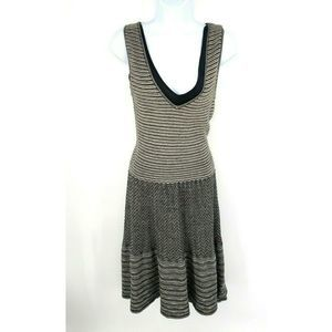 Anthropologie Knitted and Knotted Dress Knit Black